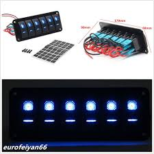 led light bar switch panel vehicles truck 6 gang dual led light bar rocker switch panel circuit