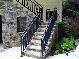 wrought iron outdoor stair railing vandome exterior idaes