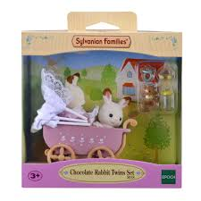 sylvanian families garden set sylvanian families baby chocolate rabbit twins house of fraser