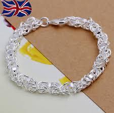 silver chain bracelet ebay images Chain link bracelet ebay JPG