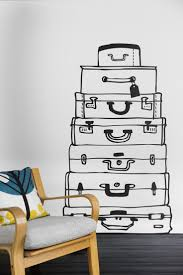 64 best wall stickers images on pinterest kidsroom children and suitcases wall sticker