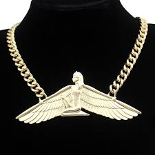 bib necklace aliexpress images Vintage egyptian goddess isis ankh wing chunky choker colar curb jpg