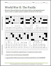 world war ii pacific puzzles worksheet printable worksheet