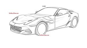 ferrari logo sketch new ferrari f12 variant leaked in patent drawings autoweek