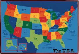 map usa for usa map classroom rug