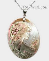 shell pearl necklace wholesale images 30x40mm cameo mother of pearl pendant wholesale pearl jewelry jpg