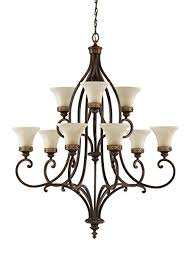 9 Bulb Chandelier Feiss F2225 6 3wal 9 Bulb Chandelier Walnut Finish Flood