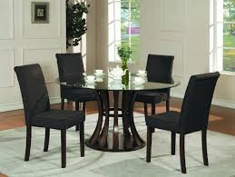 Black Round Dining Table Black Round Dining Table Set With Chairs Design 3461 Baytownkitchen