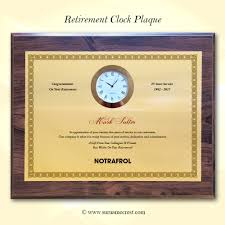 retirement plaque retirement plaque with clock insert add your own text