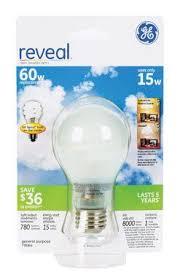 ge lighting 79064 reveal 15 watt general purpose a19 compact