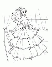 gown colouring pages coloring