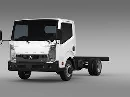 mitsubishi trucks 2015 mitsubishi fuso canter guts chassi 2017 3d cgtrader