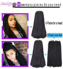 how many packs of hair do you need for crochet braids 2018 cheap 18 inch curly faux locs crochet hair wavy faux lock
