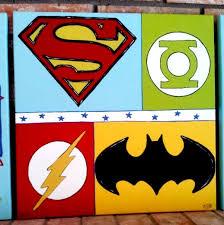Nursery Wall Art Kids Room Childrens Room Decor Superhero - Canvas paintings for kids rooms