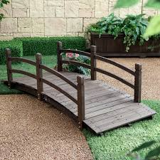 Outdoor Furniture Frisco Tx by Amazon Com Coral Coast Harrison 6 Ft Wood Garden Bridge Dark