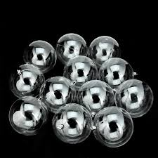 12ct shatterproof clear ornaments 4 100mm