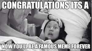 New Mom Meme - image tagged in surprised new mom imgflip