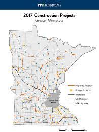 Map Of Minneapolis Mn Orange Cone Season Mndot Unveils 1b In 2017 Road Projects