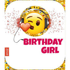 birthday girl emoji birthday girl birthday card office products