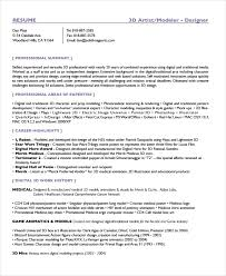 Digital Resume Example by Artist Resume Sample 3 3d Artist Resume Uxhandy Com