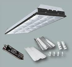 2x4 T8 Light Fixture 2x4 Foot Fluorescent Parabolic T8 Retrofit Kit