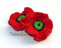226 best crochet knit poppies images on knitted