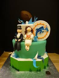 artisan bake shop grooms cake miami dophins whimsical