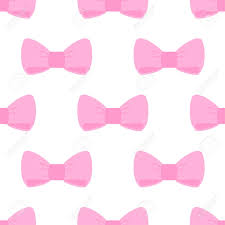 pink bows seamless pattern with pink bows on white background for