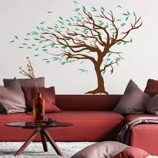 wall stickers florals shop wall art com windy tree wall sticker