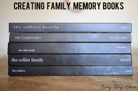 creating family memory books collier