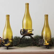 grapevine wine bottle candle holder wine enthusiast