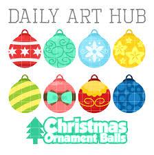 christmas ornament balls clip art set daily art hub