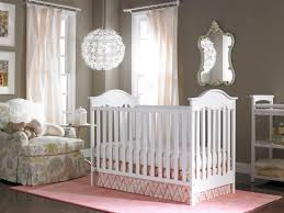bedroom cute baby nursery ideas with purple color scheme