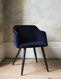 Uk Dining Chairs Midnight Blue Nordic Velvet Dining Chair At Grey
