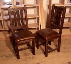 Rustic Leather Dining Chairs by Buy Hand Crafted Reclaimed Oak Rustic Mission Dining Chairs With