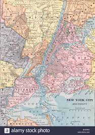 Queens College Map Original Old Map Of New York City From 1903 Geography Textbook
