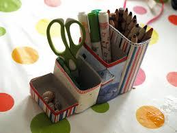 cereal box pencil pots box craft and craft organization