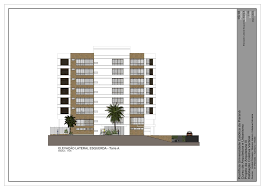side elevation residencial building left side elevation tower a by