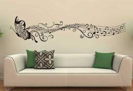 art home decor with music butterfly wall decals stickers vinyl
