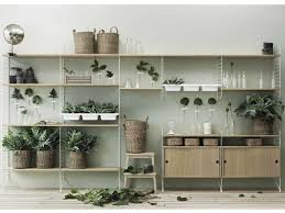 Wall Mount Planter by Large Wall Mounted Shelving Unit With Cabinet For Displaying