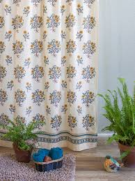 Botanical Shower Curtains Poppies Country Yellow Botanical Shower Curtain