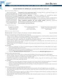 resume summary exles marketing resume of a marketing director marketing manager enchanting
