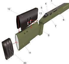 m40a3 sniper rifle paper model