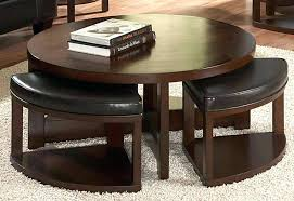 coffee table with four ottoman wedge stools coffee table sharkplay me