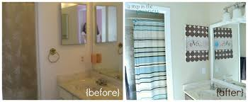Painting A Bathroom Vanity Before And After by How To Frame Your Bathroom Mirror