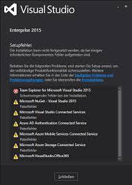 si e social microsoft visual studio 2015 enterprise error during installation