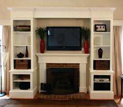 Built In Cabinets Interesting Kitchen Color Ideas White Cabinets Fireplace Side