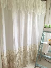 fringe shower curtain shabby chic shower curtain bohemian