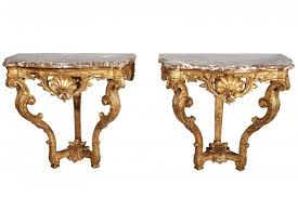 Wall Console Table Pair Of Wall Mounted Console Tables Ref 64609