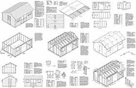 amazon com 12 u0027 x 16 u0027 saltbox style storage shed project plans